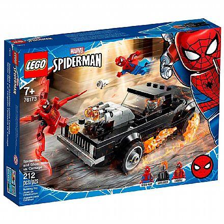 LEGO Super Heroes Marvel - Homem Aranha e Motoqueiro Fantasma vs. Carnificina - 76173