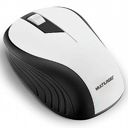 Mouse sem Fio Multilaser MO216 - 1200dpi - Preto e Branco