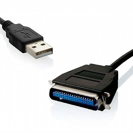 Cabo Conversor USB para Paralelo 36 Pinos - 1.8 metro - Multilaser WI198