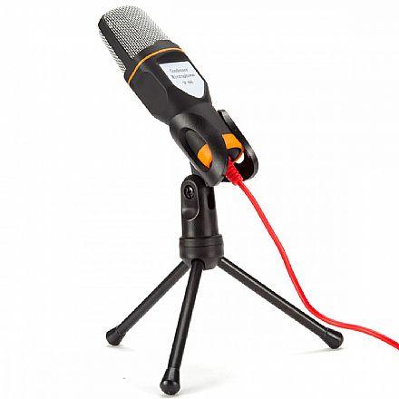 Microfone Condensador SF-666 - Conector P2 - com Tripé