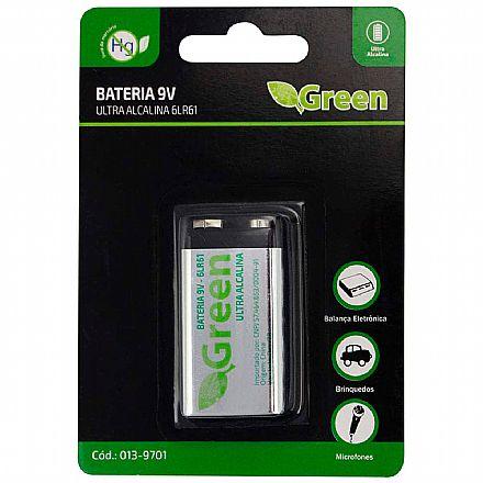 Bateria 9V 6LR61 - Green 013-9701