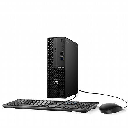 Computador Dell OptiPlex 3080 Small Desktop - Intel i3 10100, 4GB, HD 500GB, DVD, Kit Teclado + Mouse, Linux - Garantia 90 dias - Outlet