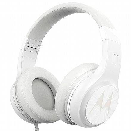 Fone de Ouvido Motorola Pulse 120 - Microfone - Cabo destacavel - Conector P2 - Branco
