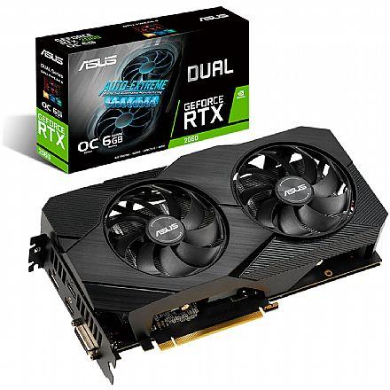 GeForce RTX 2060 6GB GDDR6 192bits - Asus Dual OC 90YV0CH2-M0NA00 - Selo LHR