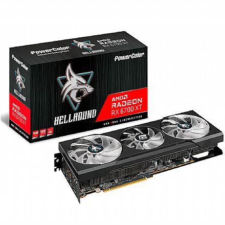 AMD Radeon RX 6700 XT 12GB GDDR6 192bits - Power Color HellHound 12GBD6-3DHL