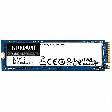 SSD M.2 1TB Kingston NV1 SNVS/1000G - NVMe - Leitura 2100MB/s Gravação: 1700MB/s