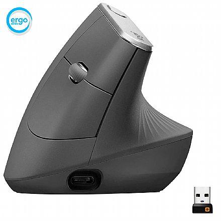 Mouse Ergonômico Vertical sem Fio Logitech MX - 4000 DPI - 4 Botões - 910-005447