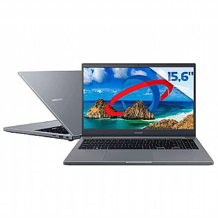 "Notebook Samsung Book E35 - Tela 15.6"" Full HD, Intel i3 1115G4, RAM 8GB, HD 1TB, Windows 10 - Cinza - NP550XDA-KT1BR"