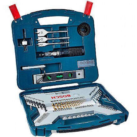 Conjunto de Brocas Bosch X-Line Titanio - 100 Peças - 2607017397