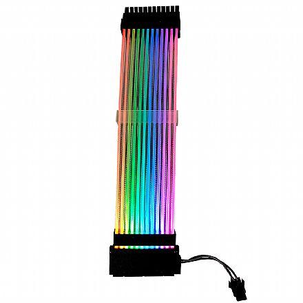 Cabos extensores Sleeved Rise Mode Aura RGB - 24cm - RM-SL-RGB