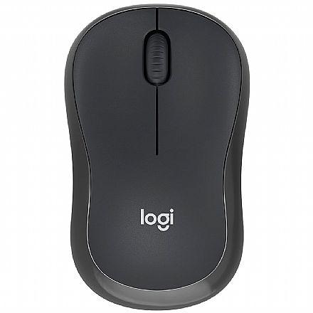 Mouse sem Fio Logitech M220 Silent - 1000dpi - Grafite - 910-006127