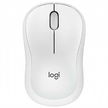 Mouse sem Fio Logitech M220 Silent - 1000dpi - Branco - 910-006125