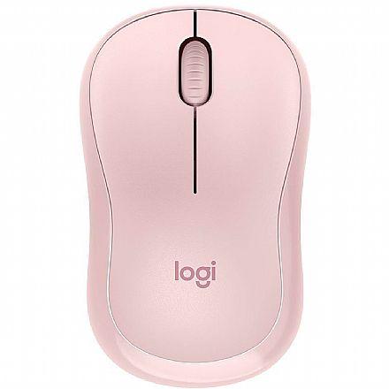 Mouse sem Fio Logitech M220 Silent - 1000dpi - Rosa - 910-006126