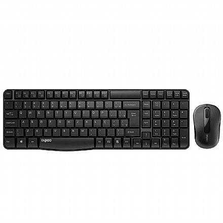 Kit Teclado e Mouse sem Fio Rapoo X1800S - ABNT2 - 1000dpi - RA001