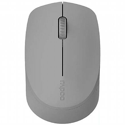 Mouse sem Fio Rapoo M100 - 1000dpi - Bluetooth e USB - Cinza - RA010