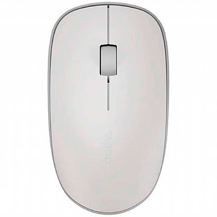 Mouse sem Fio Rapoo M200 - 1300dpi - Bluetooth e USB - Branco - RA012