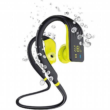 Fone de Ouvido Esportivo Bluetooth Intra-Auricular JBL Endurance Dive - À Prova D`água - com MP3 player - Preto e Amarelo - JBLENDURDIVEBNL