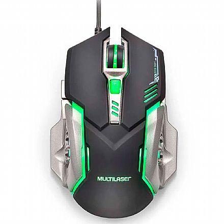 Mouse Gamer Multilaser MO269 - 2400dpi - 6 Botões - Preto e Grafite