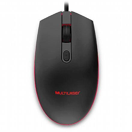Mouse Gamer Multilaser MO298 - 2400dpi - LED 7 Cores - MO298
