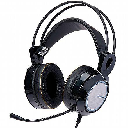 Headset Gamer Multilaser Warrior Thyra - Microfone - RGB - 7.1 - com Vibração - PH290