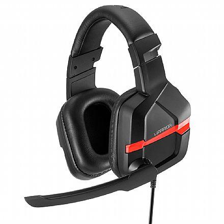 Headset Gamer Multilaser Warrior Askari PH293 - Microfone - Conector P2