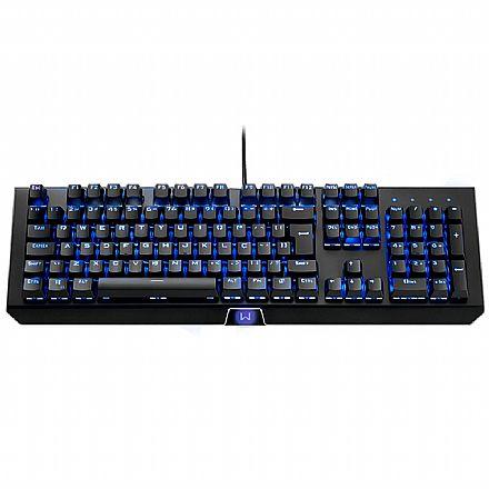 Teclado Mecânico Gamer Multilaser Warrior Kane - ABNT2 - RGB - Switch Marrom - TC236