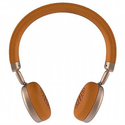 Headset sem Fio Intelbras Focus Style - Bluetooth - Microfone - Gold - 4010012