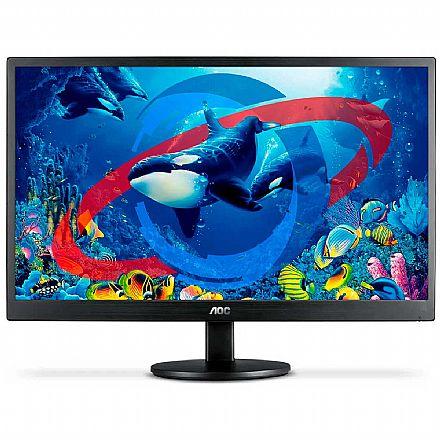 "Monitor 23.6"" AOC M2470SWH2 - Full HD - Suporte VESA - HDMI/VGA"