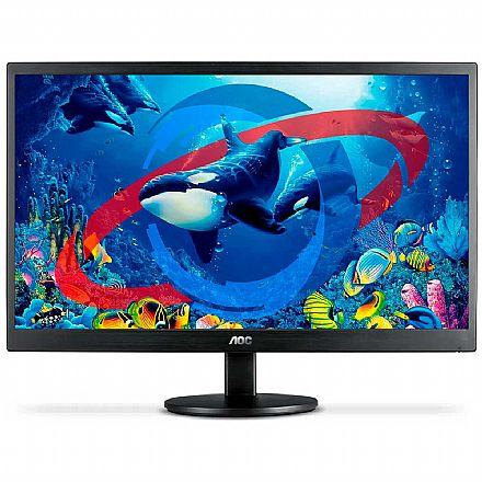 """Monitor 21.5"""" AOC E2270SWHEN - Full HD - Suporte Vesa - HDMI/VGA"""
