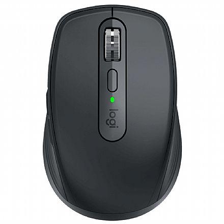 Mouse sem Fio Logitech MX Anywhere 3 - Bluetooth ou USB Unifying - Logitech Flow - Preto - 910-005992
