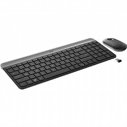 Kit Teclado e Mouse sem Fio Logitech MK470 - Padrão US - 1000dpi - Receptor USB - 920-009268
