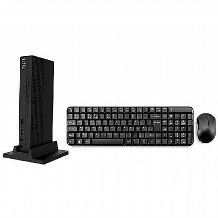 Mini PC Multilaser Ultra UM125 - Intel Celeron J1800, RAM 4GB, SSD 60GB, Windows 10 - Teclado e Mouse sem fio