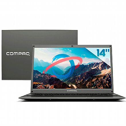 "Notebook HP Compaq Presario 420 - Tela 14"", Intel Pentium N3700, RAM 4GB, SSD 240GB, Windows 10 - Cinza"