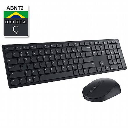 Kit Teclado e Mouse sem Fio Dell KM5221W Wireless Pro - ABNT2 - 1600dpi - Recptor USB