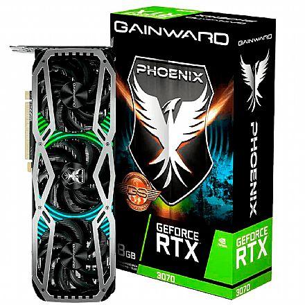 GeForce RTX 3070 8GB GDDR6 256bits - Phoenix Series GS - Gainward NE63070S19P2-1041X - Selo LHR