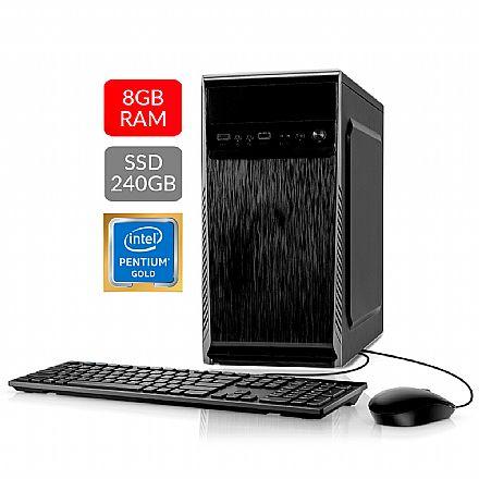 Computador Bits WorkHard - Intel i3, 4GB, SSD 120GB, Kit Teclado e Mouse, Windows 10 Home - 2 Anos de garantia