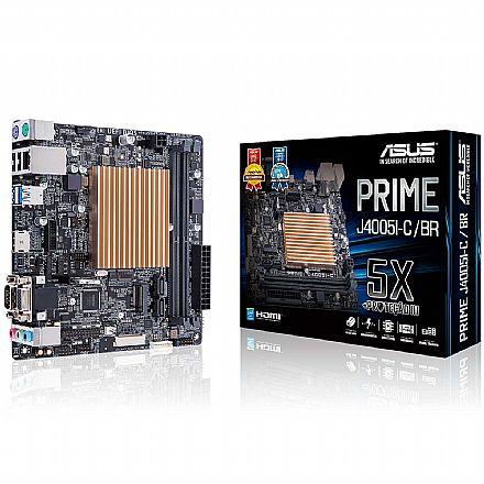 Kit Placa Mãe Asus Prime J4005I-C/BR + Processador Intel Celeron - USB 3.1 - Slot M.2 - Mini ITX