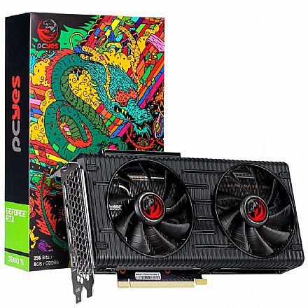 GeForce RTX 3060Ti 8GB GDDR6 256bits - PCYes Graffiti Series PP3060TI8DR6256 - Selo LHR