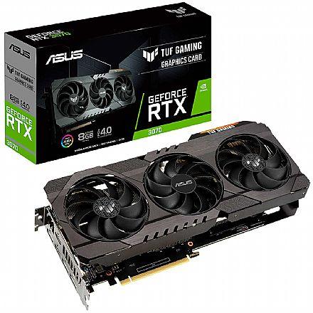 GeForce RTX 3070 8GB GDDR6 256bits - Asus TUF Gaming OC TUF-RTX3070-O8G-V2-GAMING - Selo LHR