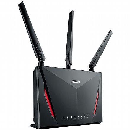 Roteador Wi-Fi Asus Gamer RT-AC86U AC2900 - Gigabit - MU-MIMO - 3 antenas