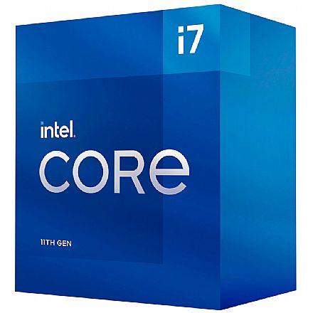 Intel® Core i7 11700 - LGA 1200 - 2.5GHz (Turbo 4.9GHz) - Cache 16MB - 11ª Geração - BX8070811700
