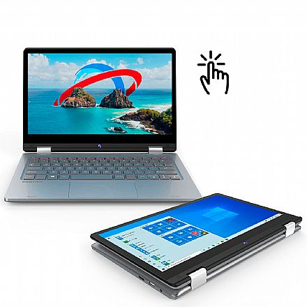 "Notebook Positivo Duo C464AP 2 em 1 - Tela 11.6"" Full HD, Intel Celeron N4020, RAM 4GB, eMMC 64GB, Windows 10"