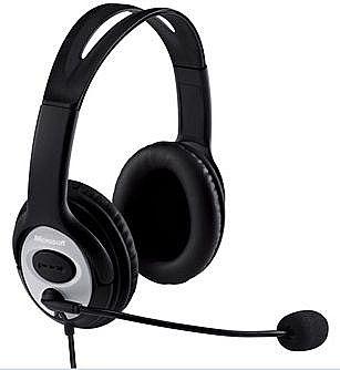 Headset Microsoft Lifechat LX-3000 - Conector USB - JUG-00013