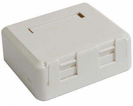 Caixa de Sobrepor 2 portas Fêmea - para Keystone - Branco