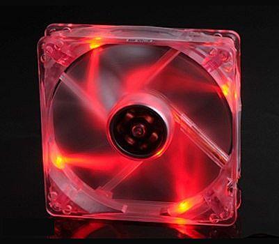 Cooler 120x120mm Akasa com LED Vermelho - AK-174CR-4RDS