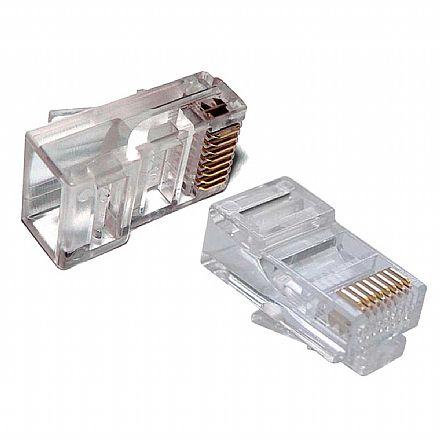 Plug Conector RJ45 Macho Cat 5e 8 vias - Crimpar