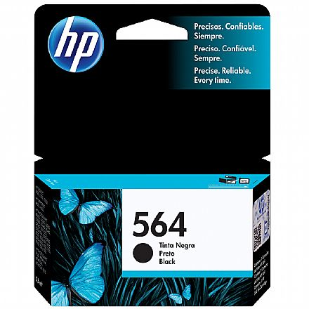 Cartucho HP 564 Preto - CB316WL - Para HP Photosmart: B8550, C6340, C6350, C6380, D5445, D5460, D7560, Plus, Premium, Premium Fax, Station