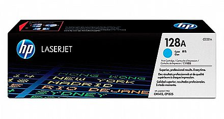 Toner HP 128A Ciano - CE321A - Para Laserjet CP1210, CP1215, CP1525, CP1525NW, CM1415FN, CM1415FNW