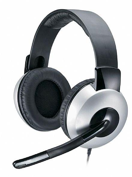 Headset Genius HS-05A - com Controle de Volume e Cabo Retrátil - Conector 3.5mm - 31710011100