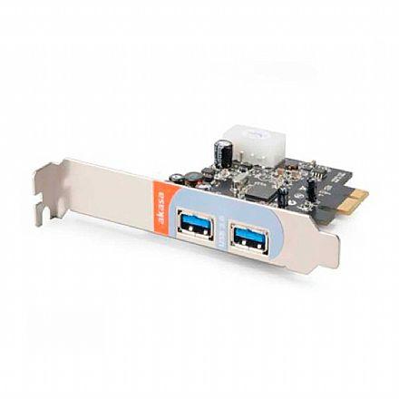 Placa PCI Express com 2 Portas USB 3.0 - Akasa - AK-PCCU3-01